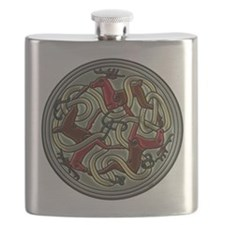 Celtic Deer Knot Flask