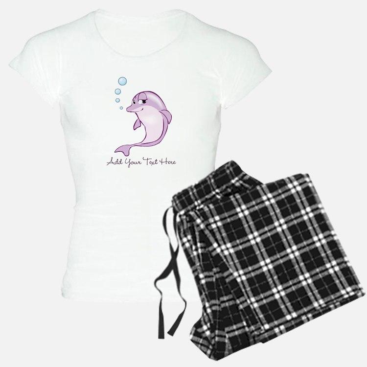Cute Purple Dolphin Pajamas