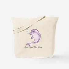 Cute Purple Dolphin Tote Bag