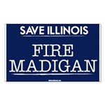 Fire Madigan Sticker (Rectangle 10 pk)