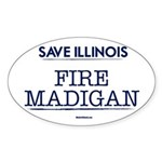 Fire Madigan Sticker (Oval 10 pk)