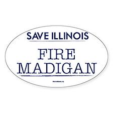 Fire Madigan Sticker (Oval)