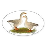 Tufted Buff Geese Sticker (Oval 50 pk)