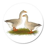 Tufted Buff Geese Round Car Magnet