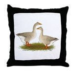 Tufted Buff Geese Throw Pillow