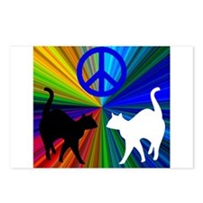Peace Cats Postcards (Package of 8)