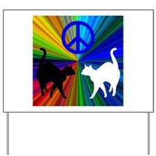 Peace Cats Yard Sign
