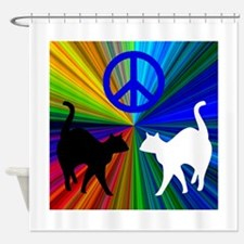 Peace Cats Shower Curtain