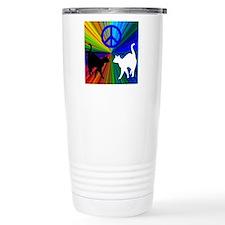 Peace Cats Travel Coffee Mug