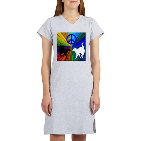 Peace Cats Women's Nightshirt