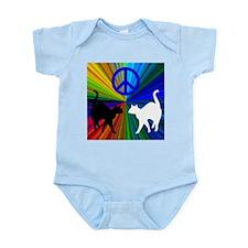 Peace Cats Infant Bodysuit