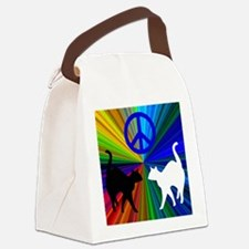 Peace Cats Canvas Lunch Bag