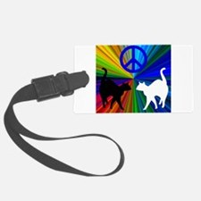 Peace Cats Luggage Tag