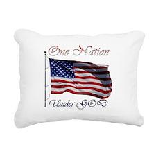 One Nation Under GOD Rectangular Canvas Pillow