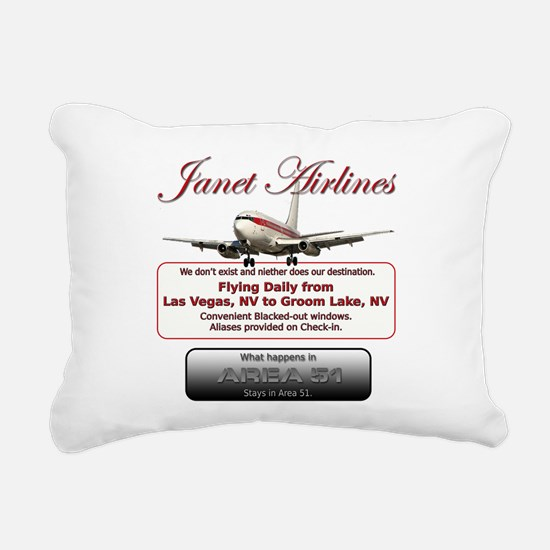 Janet Airlines.png Rectangular Canvas Pillow