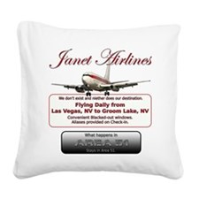 Janet Airlines.png Square Canvas Pillow