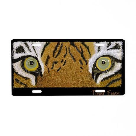 Tiger Eyes Aluminum License Plate