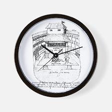 De Witt Drawing Wall Clock