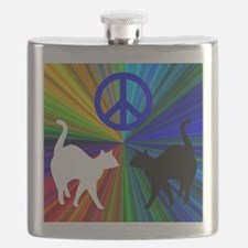 PEACE CATS Flask