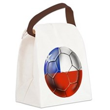 Chile Soccer Ball Canvas Lunch Bag