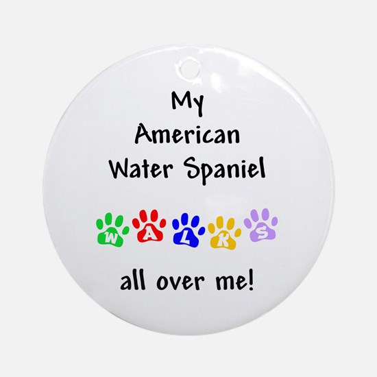 Water Spaniel Walks Ornament (Round)