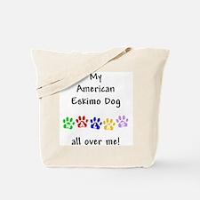 Eskimo Dog Walks Tote Bag