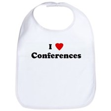 I Love Conferences Bib