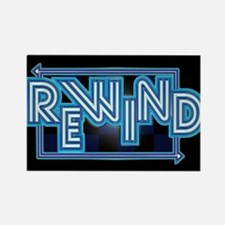 Rewind Band Rectangle Magnet