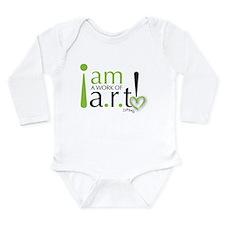 I am a work of a.r.t! Long Sleeve Infant Bodysuit
