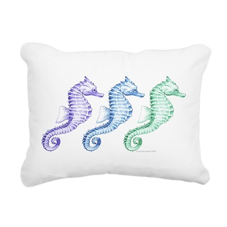 seahorse spectrum Rectangular Canvas Pillow