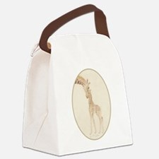 mom & baby giraffe Canvas Lunch Bag