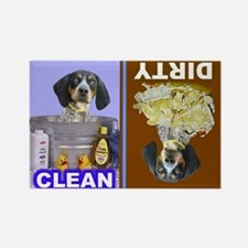 Cute Bluetick coonhound Rectangle Magnet (100 pack)