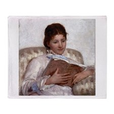 Mary Cassatt The Reader Throw Blanket