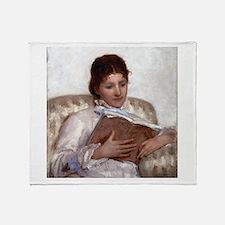 Mary Cassatt The Reader Throw Blanket