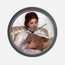 Mary Cassatt The Reader Wall Clock
