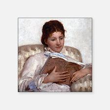 """Mary Cassatt The Reader Square Sticker 3"""" x 3"""""""
