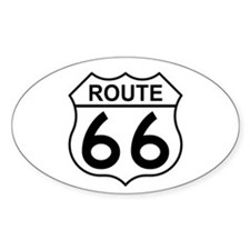 U.S. Route 66 Oval Decal