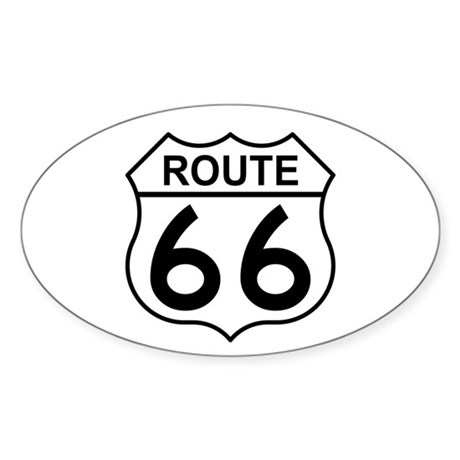 U.S. Route 66 Oval Sticker