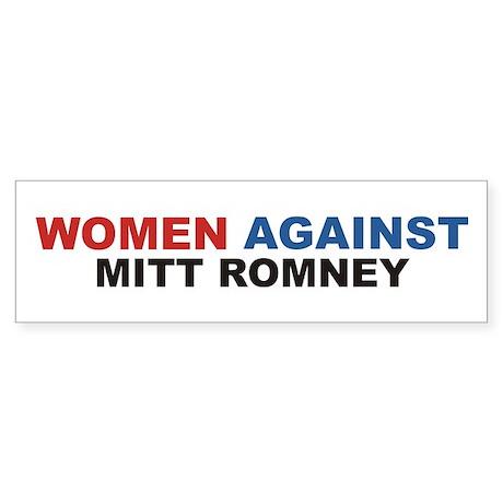 Anti Romney bumper sticker -Women Against Romney