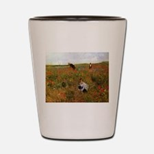 Poppies In The Field Shot Glass