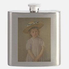 Child In Straw Hat Flask