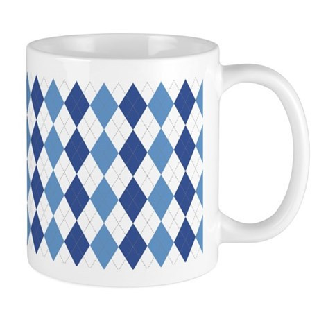 Blue Arglye Mug