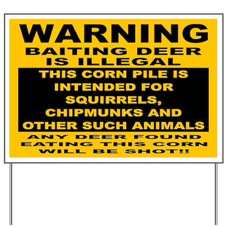 DEER HUNTING SIGN Yard Sign