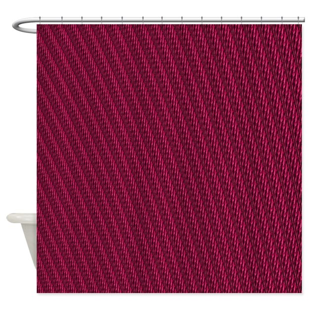 Abstract Maroon Stripes Shower Curtain By Markmoore