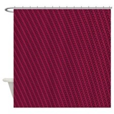 Abstract Maroon Stripes Shower Curtain