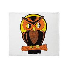 Retro Owl Throw Blanket