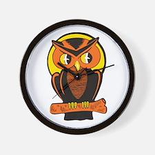 Retro Owl Wall Clock