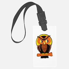 Retro Owl Luggage Tag