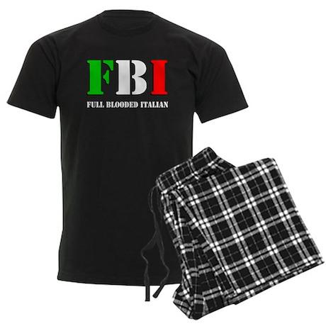 FBI Italian Shirt Men's Dark Pajamas
