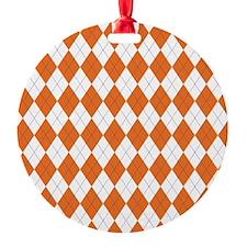 Argyle Socks Orange Ornament